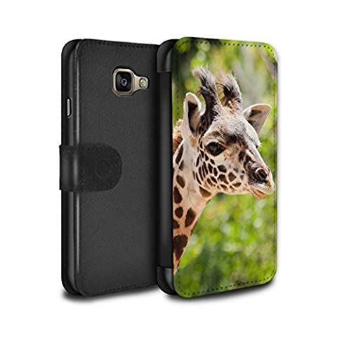 Stuff4 Coque/Etui/Housse Cuir PU Case/Cover pour Samsung Galaxy A5 (2016) / Girafe Design / Animaux sauvages Collection