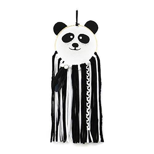 Attrape-Rêves Attrape Reve Geant En Forme de Panda, Style Nordique, Filet de Corde de Coton, Tissé à La Main, Gland Décorations Suspendues Pour Chambre d'Enfant Décoration de Chambre