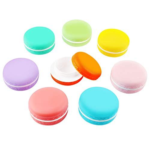 Macaron Kosmetikbehälter, leere Make-up-Gesichtscremetiegel Flaschen Kosmetikbehälter für Lippenstift, Creme, Vitamin, Ohrring und andere kleine Gegenstände (10 ml, 8er-Packung)
