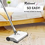 Gaddrt Sweeper Machine Smart Hand Push Wireless Di Ricarica Domestica Elettrico Sweeper Mop Cleaning Machine Usb Di Ricarica a 360 Gradi Di Pulizia (White)