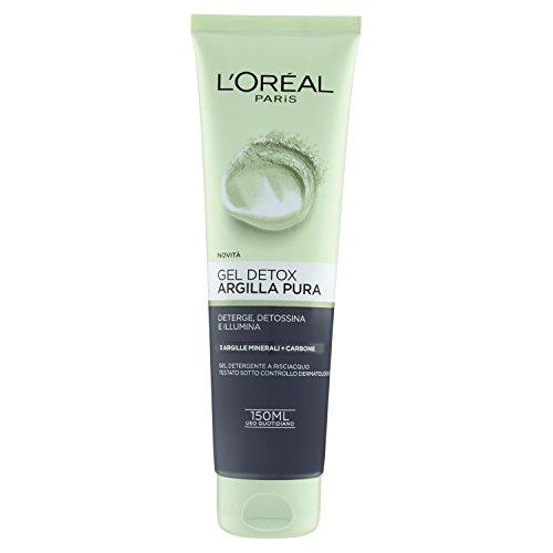 L'Oréal Paris Argilla Pura Gel Detox Viso, Deterge, Detossina e Illumina la Pelle, 150 ml