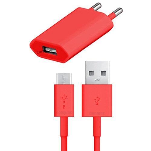 USB Ladegerät Datenkabel Ladekabel Netzteil ROT LG E440 optimus L4 II 2 original q1