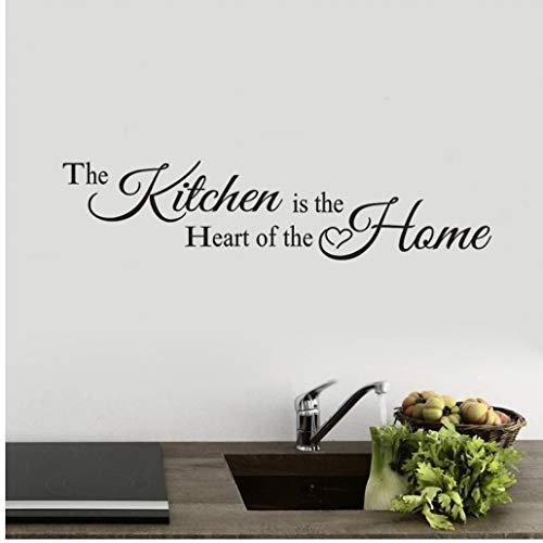 Zonster Neue PVC-Wand-Aufkleber ?Die Küche ist das Herz des Hauses' für Home-Dekor-Wand-Aufkleber-Abziehbild Schlafzimmer Vinylkunst-Wand Küche Dekor