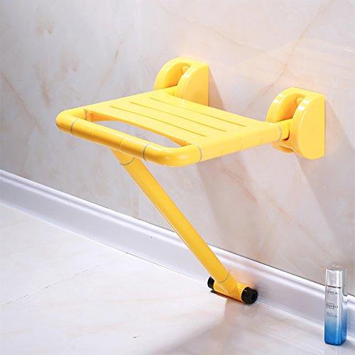Dongyd Hocker mit abnehmbarem Blatt zur Wandmontage, Faltbarer Duschsitzstuhl, Faltbarer Badesitz for ältere Menschen, Schwangere und Behinderte, die EIN Bad nehmen möchten (Color : B, Size : (1)) -