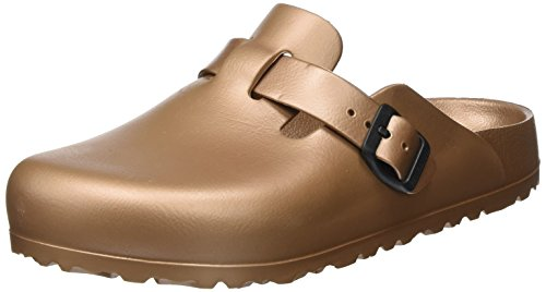 BIRKENSTOCK Unisex-Erwachsene Boston Eva Clogs, Braun (Metallic Copper), 38 EU
