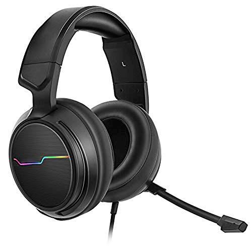 QJGhy Gaming Headset USB-Anschluss und 7.1-Surround-Sound für PC, PS4, Xbox One Gaming-Kopfhörer über Ohrhörer 10 One-touch-memory