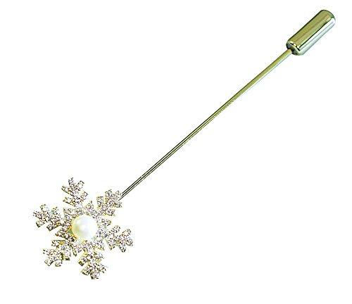 Spezielle Schneeflocke Form Frauen Brosche Bekleidung Accessoires Gold Farbe #01