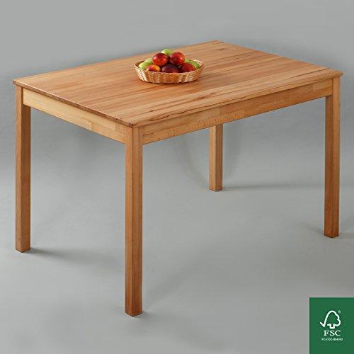 Esstisch Massivholz Buche 100% FSC Tomas Esszimmertisch Massivholz Tisch (110 x 75 x 75 cm)