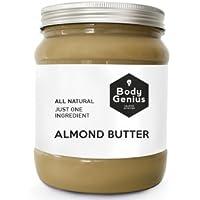 BODY GENIUS Almond Butter. Contiene SOLO y nada más que Almendras. Made in Spain. 1000 gr
