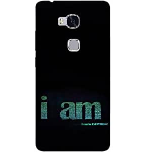 Casotec Inspirational Quote Design Hard Back Case Cover for Huawei Honor 5X