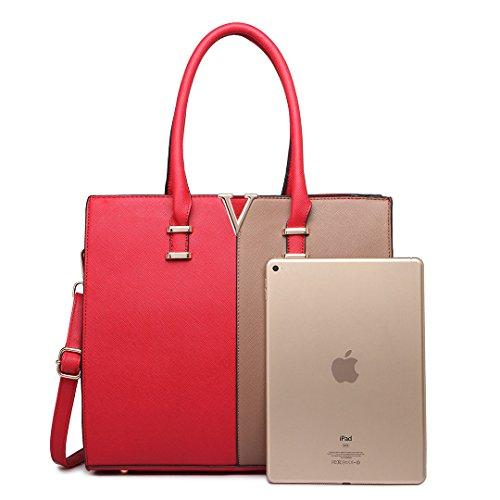Miss Lulu ,  Mädchen Damen Tasche Rot, Braun