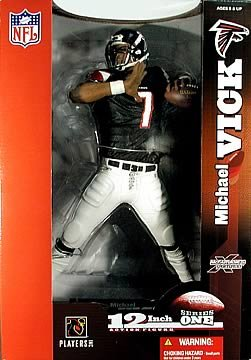 McFarlane Toys NFL Sports Picks 12 Inch DELUXE Action Figure Michael Vick (Atlanta Falcons) Black Jersey by Unknown