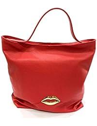 8567cf4950 Tosca Blu BORSA DONNA SHOULDER BAG LIPSTICK PELLE ROSSO