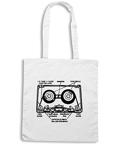 T-Shirtshock - Borsa Shopping FUN0025 02 06 2013 Mixtape Anatomy T SHIRT det Bianco
