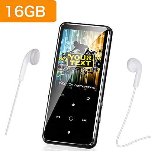 Reproductor MP3 Bluetooth 4.0 con Clip Reproductor de Música para el Deporte Pantalla TFT de 2.4 Pulgadas, FM Radio, Podometro, Auriculares, Soporte SD USB TF hasta 64 GB Tarjeta