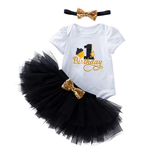 Neugeborenes Baby Mädchen Geburtstag Anzahl Strampler solide Tüll Tutu Rock Set (Leder Jacke Teddy Bär)