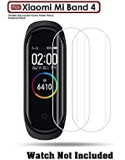 Divine® Screen Protector Film Scratch Guard for Xiaomi Mi Band 4 TPU Packaging - Transparent - Pack of 2