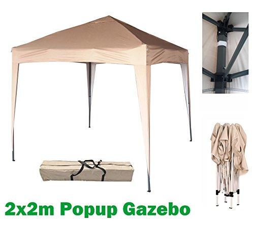MCC@home 2mx2m Pavillon, Gartenpavillon, Festzelt, Komplettset, Pavillon, Party Zelt (Beige)