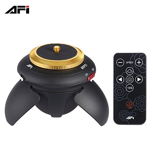 AFI MRP01 Mini Tripod Head Electric 360 Rotation Panorama Time Lapse Head for Action Camera Smartphones Black