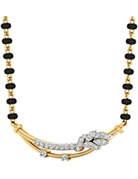 PC Jeweller The Ziv 18KT Yellow Metal Gold and Diamond Pendant for Women