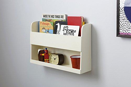 Tidy Books� - Floating Shelves for Bunk Beds - Book Shelf - Kids Storage Unit - Wood - Ivory - 33 x 53 x 12 cm | ECO Friendly | Handmade - The Original Bunk Bed Buddy