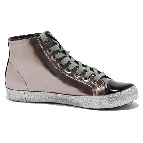 80873 sneaker COLORS OF CALIFORNIA scarpa donna shoes women Nero/Argento