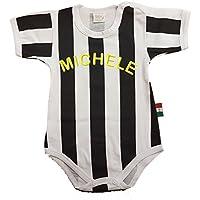 Zigozago - Body Spielanzug Baby mit schwarzen weißen Streifen JUVENTUS - 100% Baumwolle