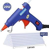 Hot Glue Gun,Blusmart Upgraded Version Glue Gun with 30pcs Glue Sticks, 20W Mini Hot Glue Gun Blue Fast Heating for DIY Craft Projects and Home Quick Repairs