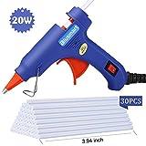 Blusmart Mini Hot Glue Gun with 25 Pieces Melt Glue Sticks, 20 Watts
