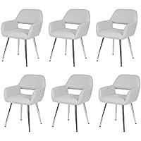 Set 6x sedie lounge Altena design moderno ecopelle sala pranzo