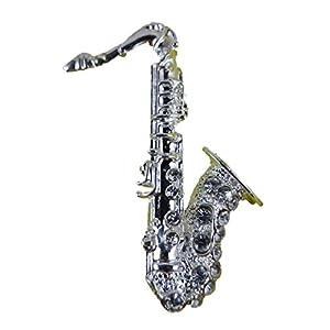 Brosche/Anstecknadel/Pin Straß Saxophon Musik Konzert Classic Schule B182