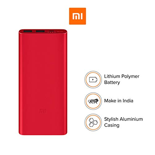 (Renewed) Mi 10000mAH Li-Polymer Power Bank 2i (Pink) Image 3
