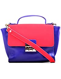 Hopping Street Multi Color Faux Leather Women Sling Bag