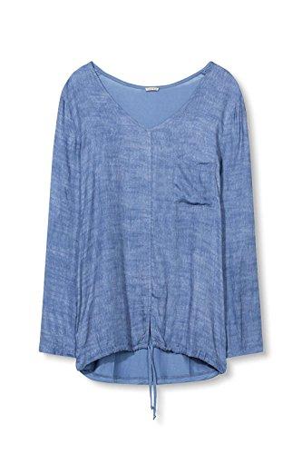 ESPRIT Maglia a Maniche Lunghe Donna Blu (Grey Blue)