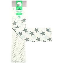 Sense Organics 8200716 - Paño de muselina (2 unidades, 75 x 75 cm), diseño de estrellas