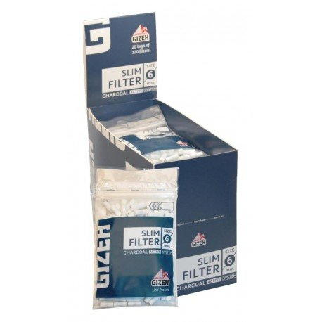 Gizeh Filtri Slim con Carboni Attivi 5 Buste da 120 filtri