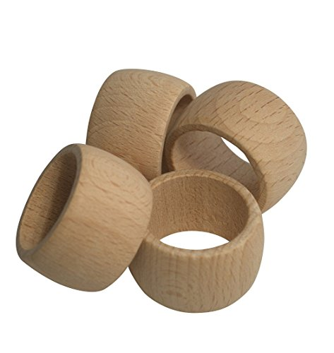 Ronds de serviette en bois, 6pièces