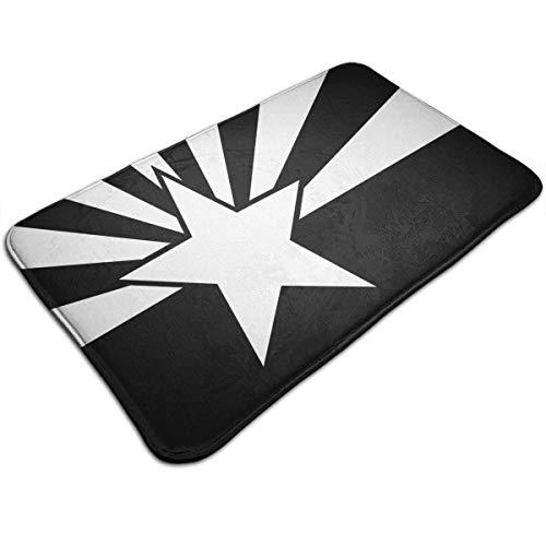 artyly Schwarzweiss-Arizona-Flagge Deco-mat Fußmatte, Fussmatte Innen, rutschfest, Waschbar - Schmutzfangmatte - Fussabtreter - Türmatte 50 x 80 cm (Honig Arizona)