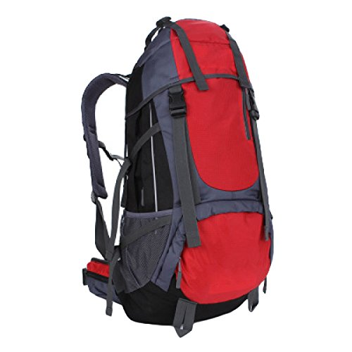 55L Outdoor Trekking Zaino Borse Di Grandi Dimensioni Capacità Di Alpinismo Zaini Uomini E Donne,Red Red
