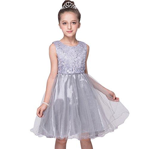 LSERVER-Mädchen Blumenmädchen Kleid, Kinder Lace Hochzeitskleid Tüll Festkleid Abendkleid...