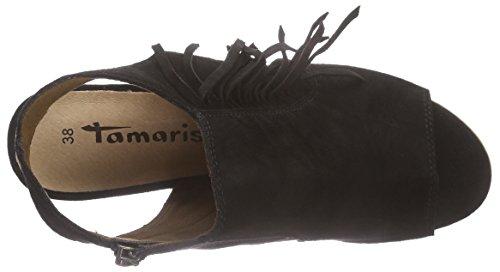 Tamaris 28348 Damen Offene Sandalen mit Blockabsatz Schwarz (Black 001)
