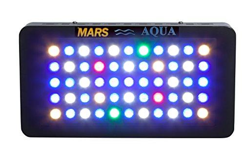 MarsAqua 165w Dimmable LED Aquarium Light Lighting Fixture for Fish Tank Reef Coral Marine Aquarium Suitable for Saltwater Led 55x3w