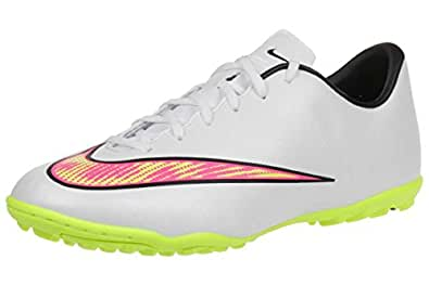 f1ad9c4cabf8b NIKE Mercurial Victory V TF Junior Astroturf Boots - White/Yellow ...
