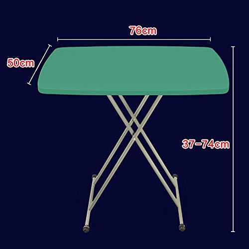 Klapptisch YANFEI, Portable Hubtisch, Multifunktions, einfach (Farbe : Green) -