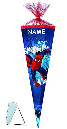 alles-meine.de GmbH personalisierte 3D LED Licht & Leucht - Schleife - passend für Schultüte -  Spider-Man  - 22 / 35 / 50 / 70 / 85 cm - incl. Namen - Zuckertüte ALLE Größen -.. -