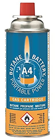 Bright Spark 220 g A4 Butane Battery Gas Cartridge (pack of 4)