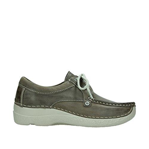 Laccio Wolky scarpe, 6286 squallido Stroll Grigio (315 taupe Leder)
