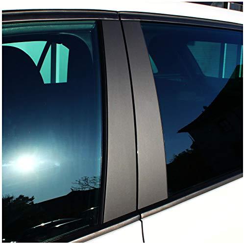 AlphaShield F07 Lackschutz Folie für B C Säule Zierblenden Aufkleber für Auto (90µm 3M 1080 Matt Schwarz)