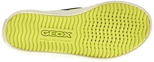 Geox Jr Kiwi Boy D, Scarpe a Collo Alto Bambino Multicolore (Navy/Multicolor)
