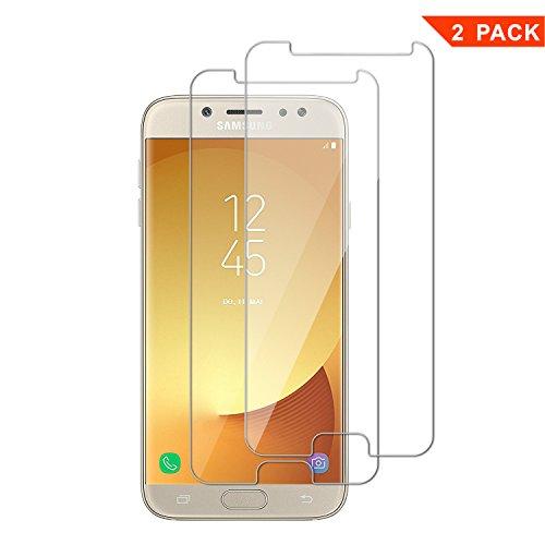 [2 Pack] Pellicola Vetro Temperato Samsung Galaxy J5 2017, ViViSun 9H 2.5D Anti-impronte Anti-graffio Ultra-Clear Protezioni Schermo in Pellicola Protettiva per Samsung J5 2017 (La Vetro Temperato è più Piccola Dello Schermo, in quanto è Curva)